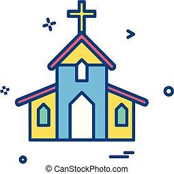 キリスト教徒, holey, 交差点, ベクトル, デザイン, 教会, アイコン