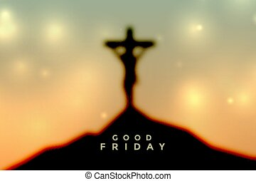 キリスト, よい, イースター, 金曜日, 現場, はりつけ, イエス・キリスト