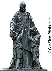 キリスト, イエス・キリスト, 墓碑, 成長した, 彫刻, 子供