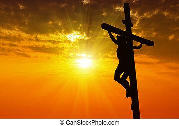 キリスト, シルエット, イエス・キリスト, はりつけ, 交差点