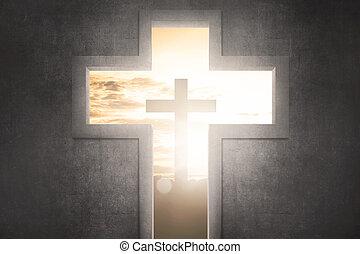 キリスト, シンボル, 形, 交差点