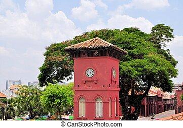 キリスト, 時計, オランダ語, マレーシア, 教会, タワー,  malacca