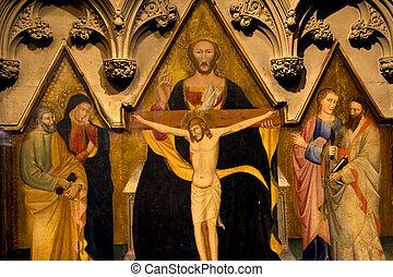 キリスト, 神の霊, 絵, 三位一体教会, ニューヨーク市