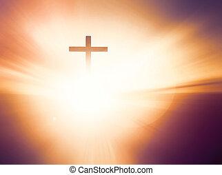 キリスト, 神, シンボル, 交差点, イエス・キリスト, 教会, 救済, concept: