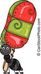 キーウィ, popsicle, フルーツ, 蟻, 届く, スイカ