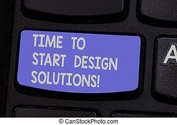 キーパッド, 写真, それ, 印, アイロンかけ, デザイン, キーボード, メッセージ, idea., 始めなさい, 作成しなさい, intention, テキスト, 概念, 新しい ビジネス, 提示, 瞬間, キー, solutions., s, コンピュータ, 時間, 始める