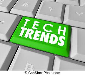 キーボード, 人気が高い, ソフトウェア, コンピュータ, 傾向, 技術, 上, 言葉, ボタン