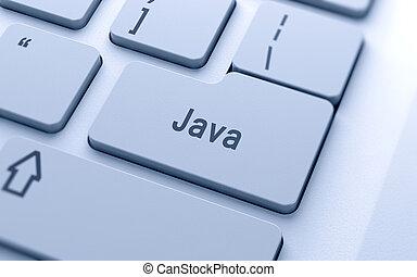 キーボード, 単語, ジャワ, コンピュータ, ボタン