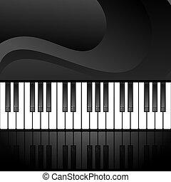 キー, 抽象的, ピアノ, 背景