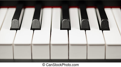 キー, 象牙, ピアノ, 黒檀, 壮大