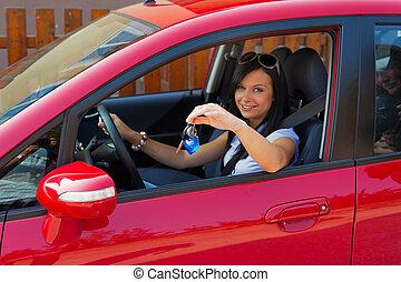 キー, 車の女性, 新しい