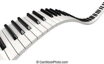 キー, 道, ピアノ, (clipping, included)