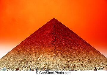 ギザ, エジプト, ピラミッド, 壮大