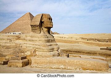 ギザ, ピラミッド, スフィンクス, エジプト人