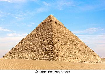 ギザ, chephren ピラミッド, エジプト, 光景