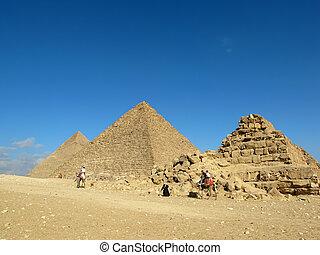 ギザ, (egypt)., ピラミッド