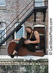 ギターの症例, 女