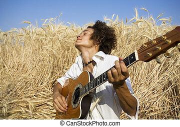 ギターの遊ぶこと