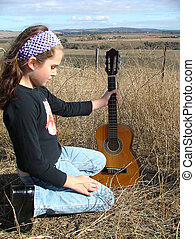 ギターの 演奏