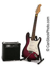 ギター, アンプ, 電気である