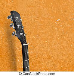 ギター, グランジ, 首, 背景