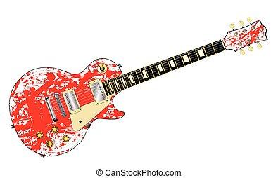 ギター, スプラッター, インク