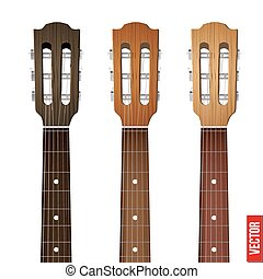 ギター, セット, fretboard, 首, ヘッドストック