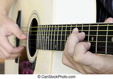 ギター, ハンドル, コード