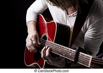 ギター, プレーしなさい, 音楽家, スタジオ