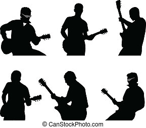ギター プレーヤー, シルエット