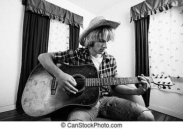 ギター プレーヤー, 若い