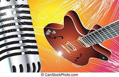 ギター, マイクロフォン