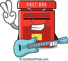 ギター, メールボックス, ベクトル, マスコット