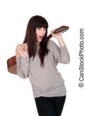 ギター, 女性の保有物