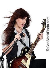 ギター, 女, 歌うこと