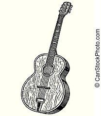 ギター, 彫版, 型