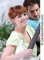 ギター, 恋人, 遊び