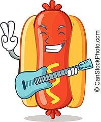 ギター, 暑い, 特徴, 犬, 漫画