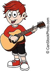 ギター, 男の子, クラシック