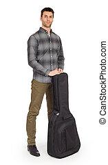 ギター, 袋, musican, 音響