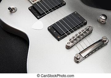 ギター, 銀, 電気である