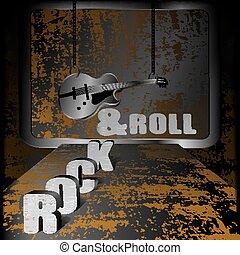 ギター, 鎖, 音楽, 背景, 鉄