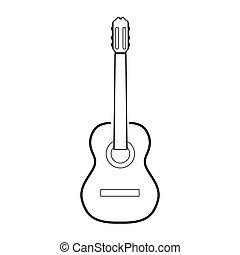 ギター, 隔離された, アウトライン