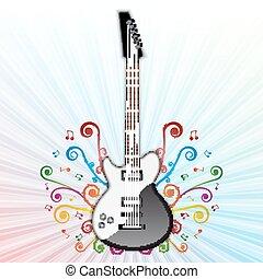 ギター, 電気である, 背景