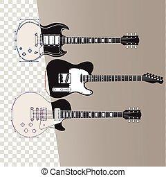ギター, 音楽, 背景