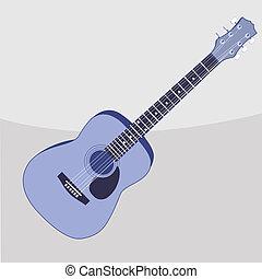 ギター, 音響, ベクトル, イラスト