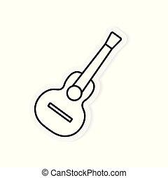 ギター, 音響, ベクトル, イラスト, icon-