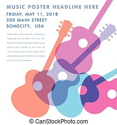 ギター, 音響, 抽象的なデザイン