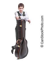 ギター, 音響, musican, case.