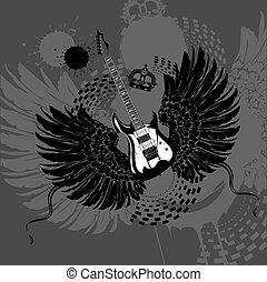 ギター, 飛行